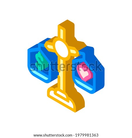 choosing between conscience and money isometric icon vector. choosing between conscience and money sign. isolated symbol illustration Stock photo ©