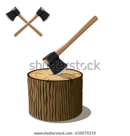 Chop Wood With Axe: Vector Axe