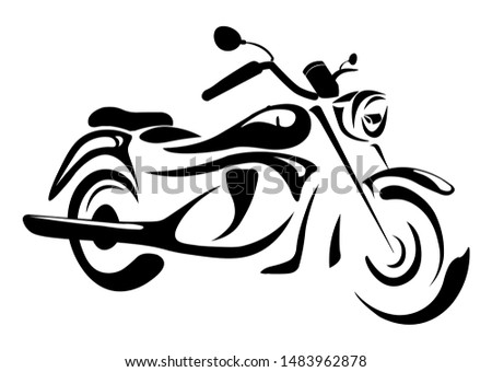 Chopper Bike flat vector, Vintage chopper motorcycle, Illustration, Isolated Motorcycle Stock photo ©