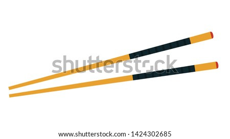 chopsticks vector. chopsticks white background. wallpaper. free space for text. copy space. Stock photo ©