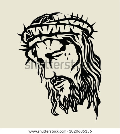 christ face sketch drawing  art