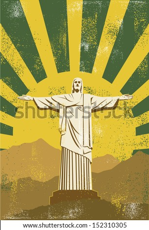 christ the redeemer statue in...