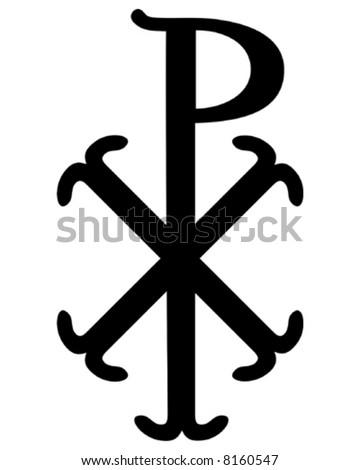Christian Chi Rho symbol (for Christ)