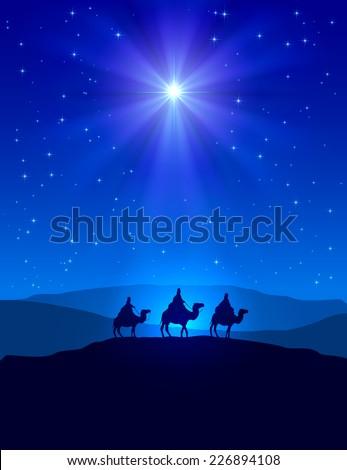 christian christmas night with