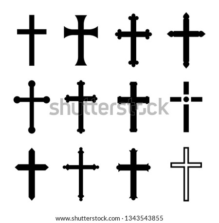 Christian cross collection. Vector