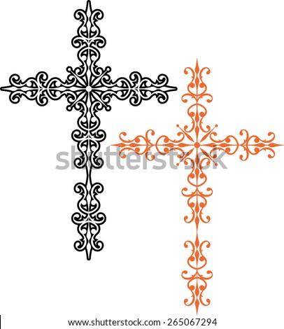 christian cross design vector