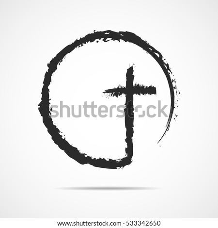 christian cross icon in the