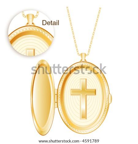 christian cross locket jewelry