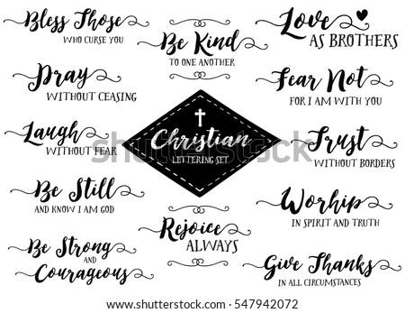 christian hand lettering vector