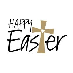 Christian Happy Easter Cross vector files Religious