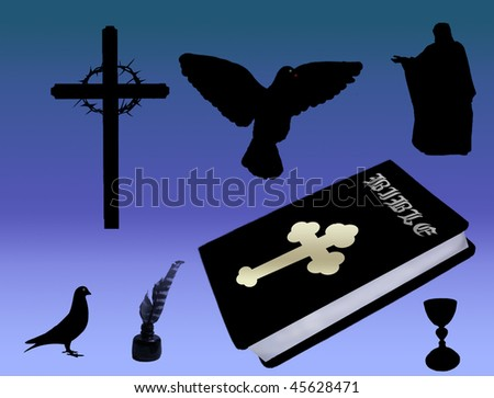 christian icons  cross  dove