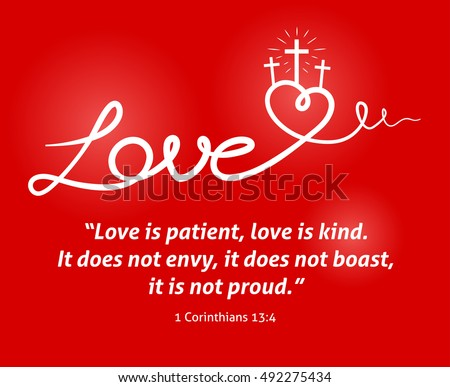 christian love background with