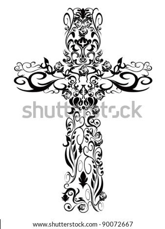 Christian pattern Cross decoration Design