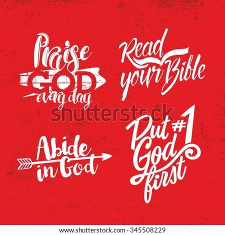 Christian phrase. Lettering.