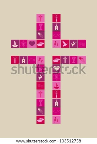 Christian religion symbols girl