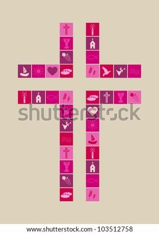 Christian religion symbols girl