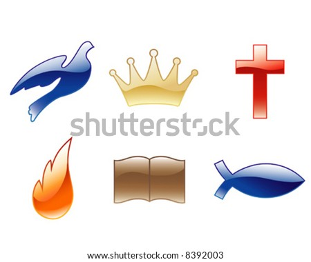 Christian vector icons