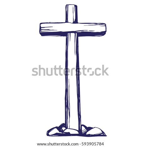 christian wooden cross easter