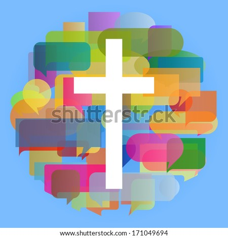 Christianity cross religion vector abstract background concept illustration