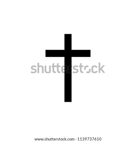Christianity Latin cross sign icon. Element of religion sign icon for mobile concept and web apps. Detailed Christianity Latin cross icon can be used for web and mobile on white background