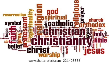 christianity word cloud concept