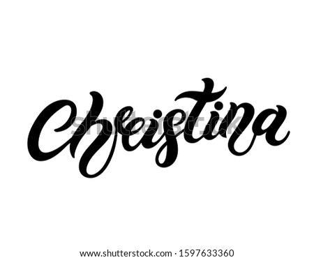 christina woman's name hand