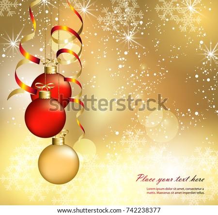 Christmas abstract card. Christmas abstract balls #742238377