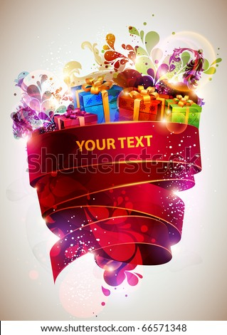 Christmas abstract poster