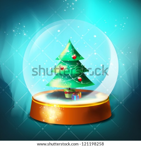Christmas  and Happy new year greeting card - stock vector