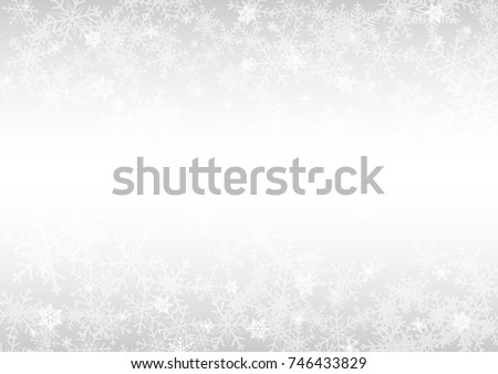 Christmas and happy new year white vector background with snowflake