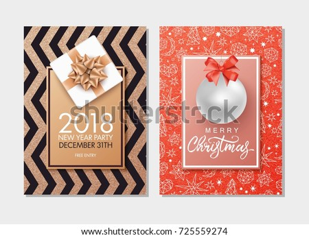 christmas and new year background for holiday greeting card invitation party flyer poster
