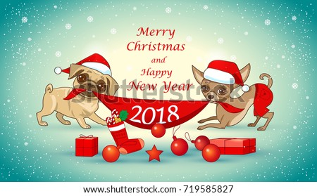 Cute Dog With Party Hat And Gift Box Download Free Vector Art