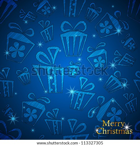 Christmas and New Year Gift background. Vector illustration