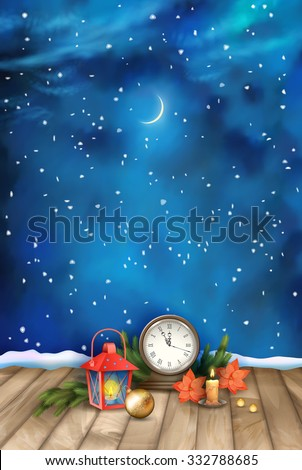christmas and new year night