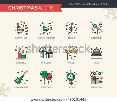 christmas and new year   set of