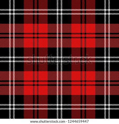 christmas and new year tartan
