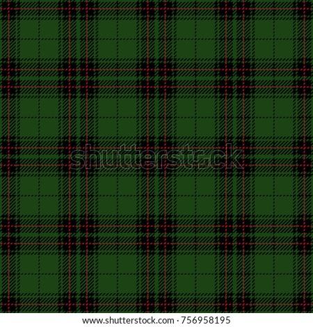 Christmas and New Year Tartan Plaid. Seamless Scottish Woven Pattern