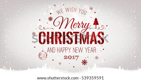 christmas 2017 and new year typographical on red background with gold firework xmas card - Xmas Cards