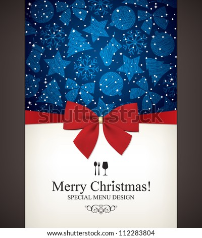 Stock Photo Christmas and New Year  Vector greeting card