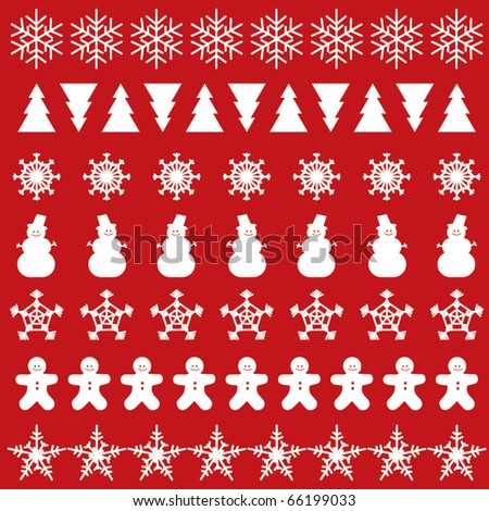 Christmas and new year vector ornaments and icons