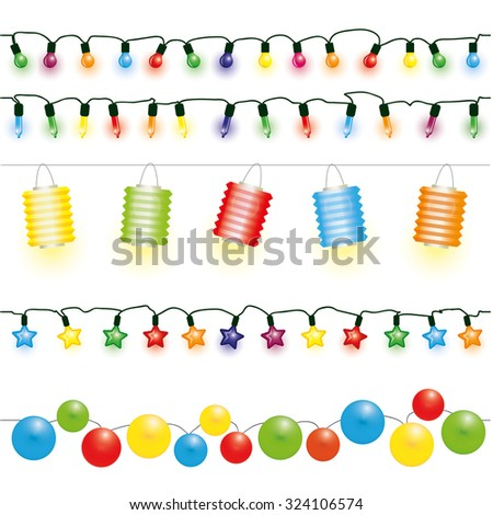 christmas and party lights