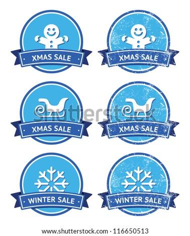 christmas and winter sale retro
