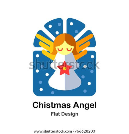 christmas angel flat