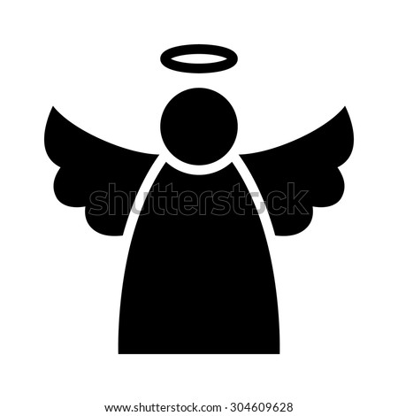 christmas angel with wings and