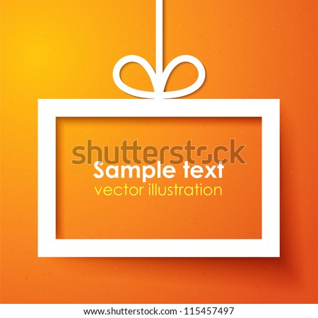 Christmas applique background. Vector illustration for your design. - stock vector