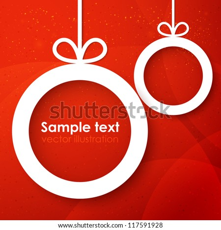 Christmas applique background. Vector illustration for your design.