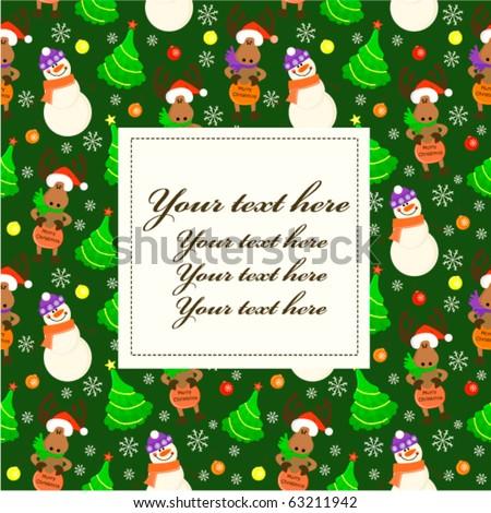 Christmas baby greeting card or frame