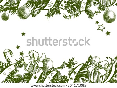 Christmas Tree Frame Download Free Vectors Clipart