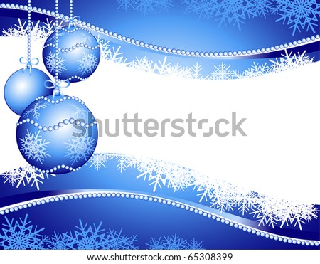 Christmas background customizable with Christmas decoration, vector