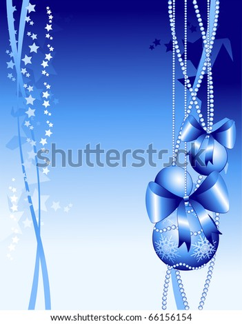 Christmas background customizable with decoration, vector
